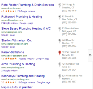 Google Plus Listings