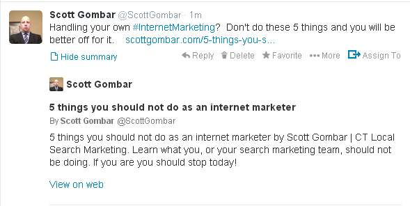 Expand Your Tweets Beyond 140 Characters Scott Gombar